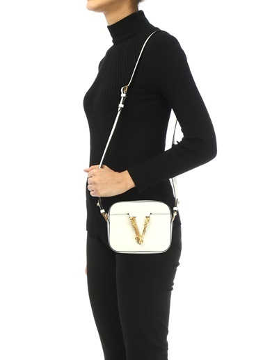 Versace Omuz Çantası Beyaz